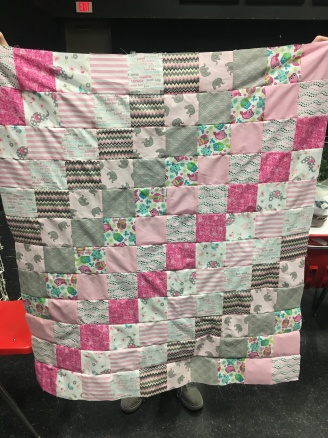Baby O's quilt front